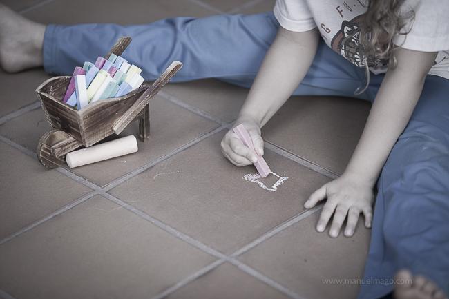 pintar en el suelo